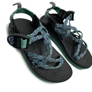 Kids Chaco Teal Strappy Sandals Outdoors Hiking